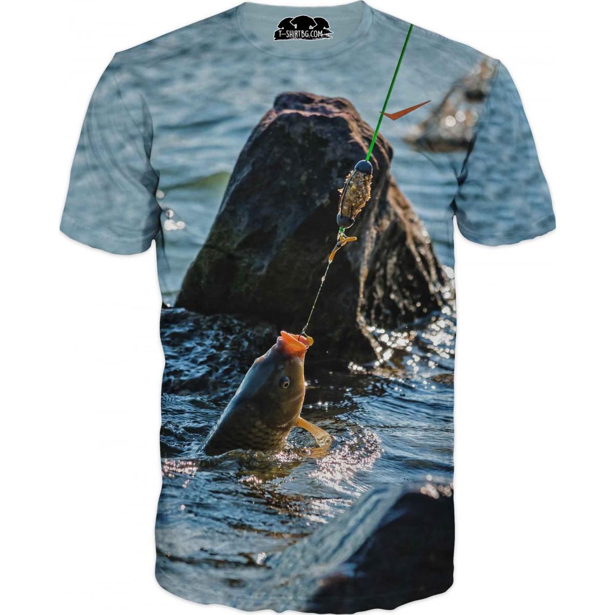 Риболовна тениска - въдица и стръв