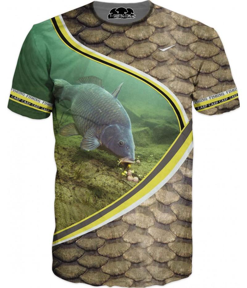 Ловна тениска - риба с люспи