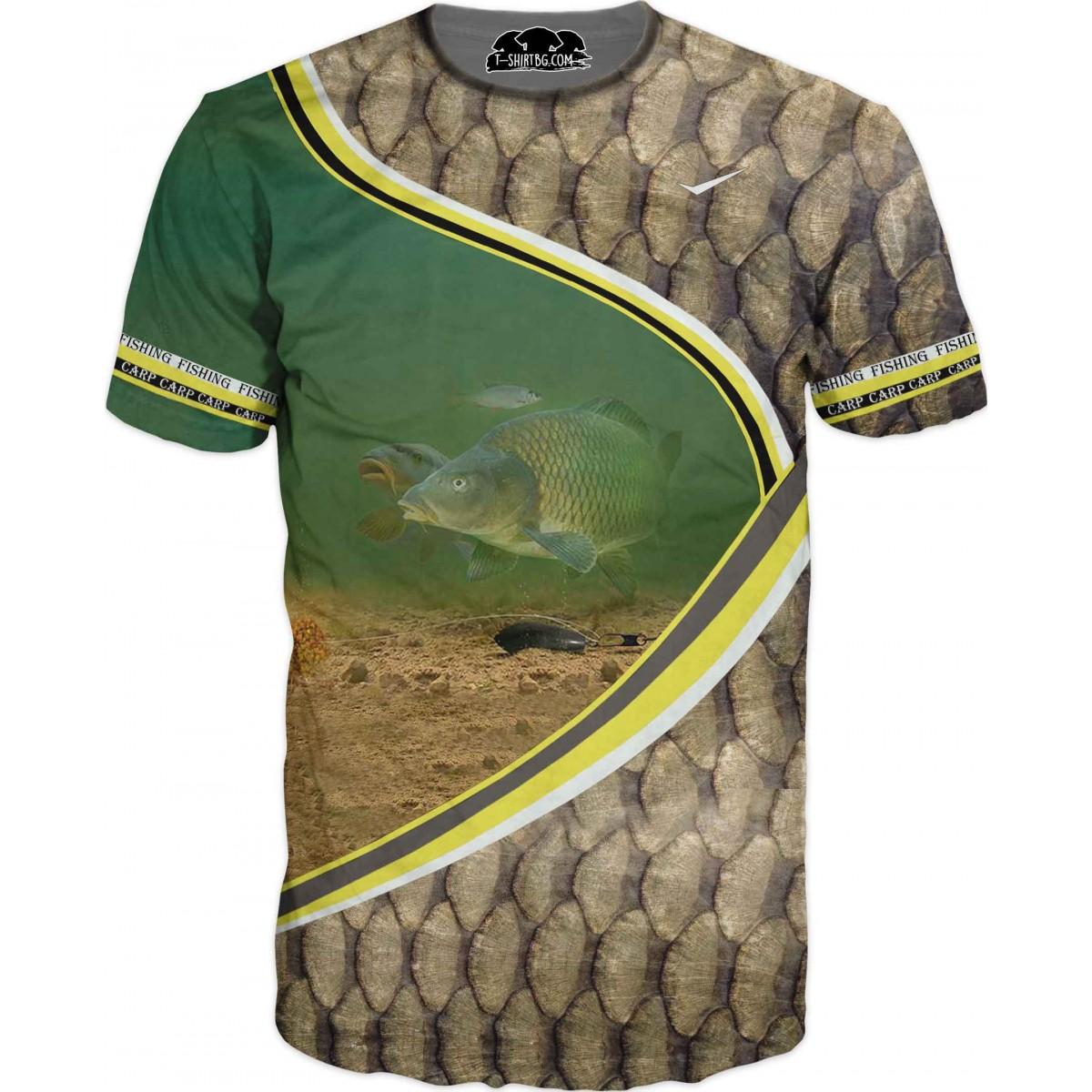 Риболовна тениска - риба с люспи