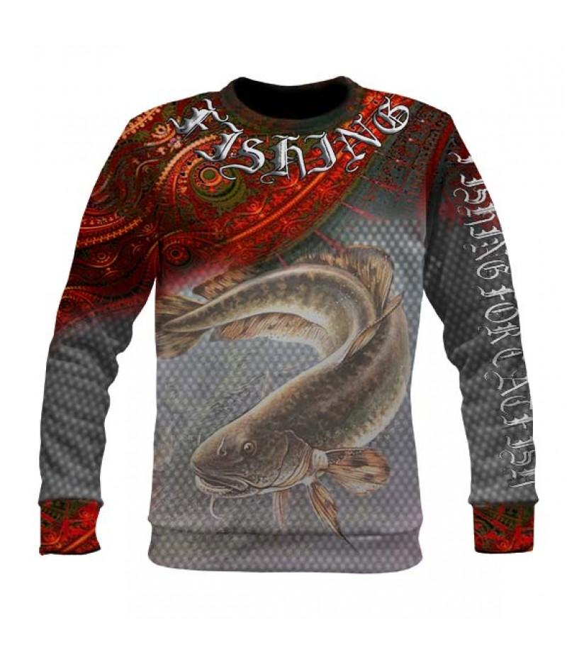 Риболовна ватирана блуза със сом