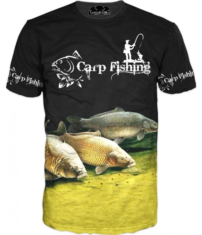 Риболовна тениска с три риби