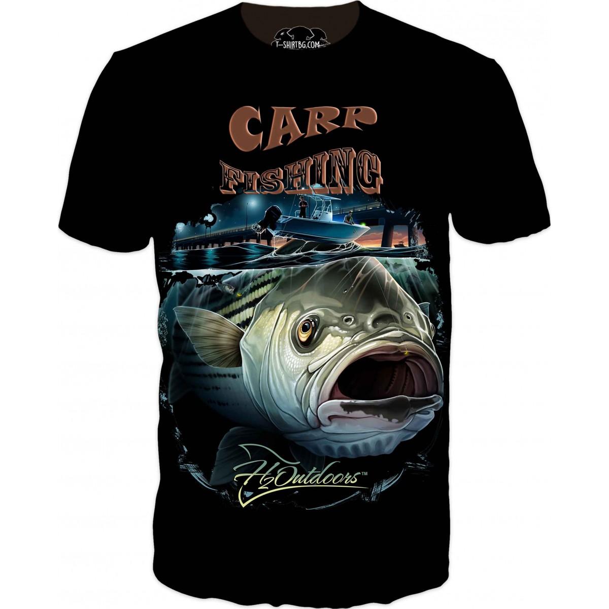 Страхотна риболовна тениска с шаран