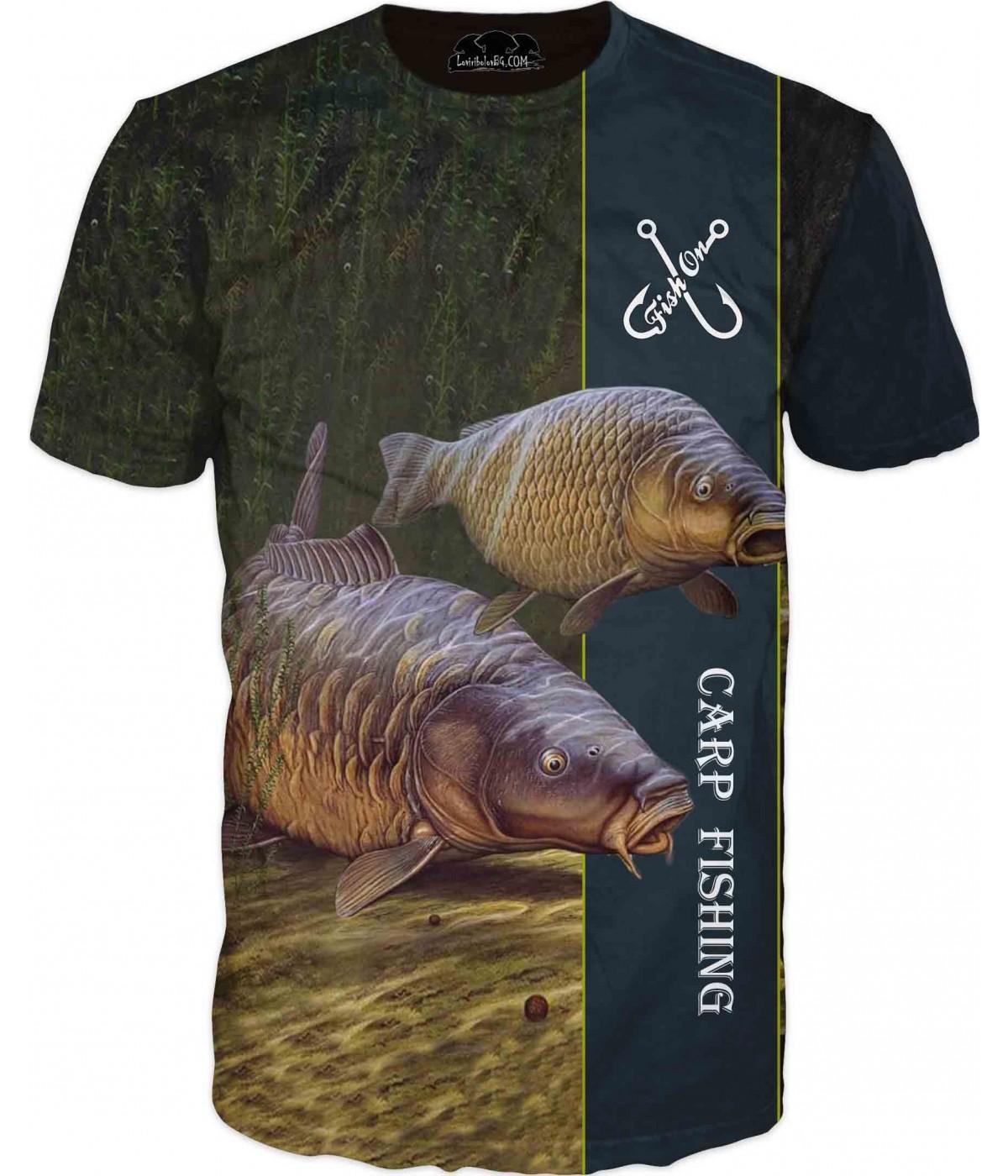 Риболовна тениска - две риби