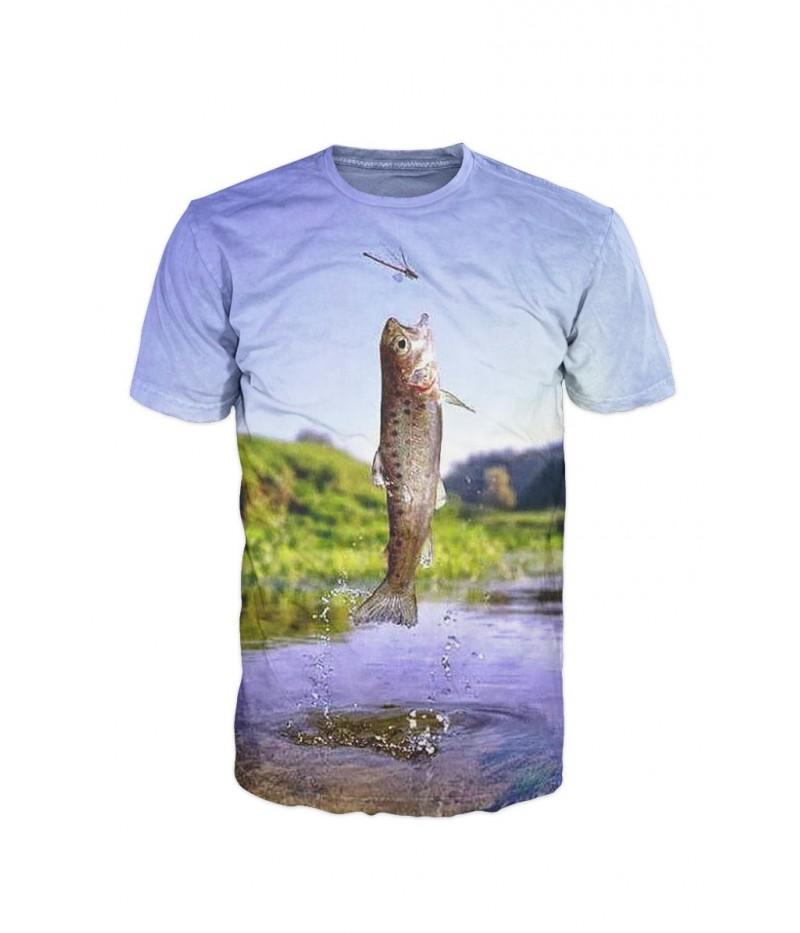 Риболовна тениска с риба