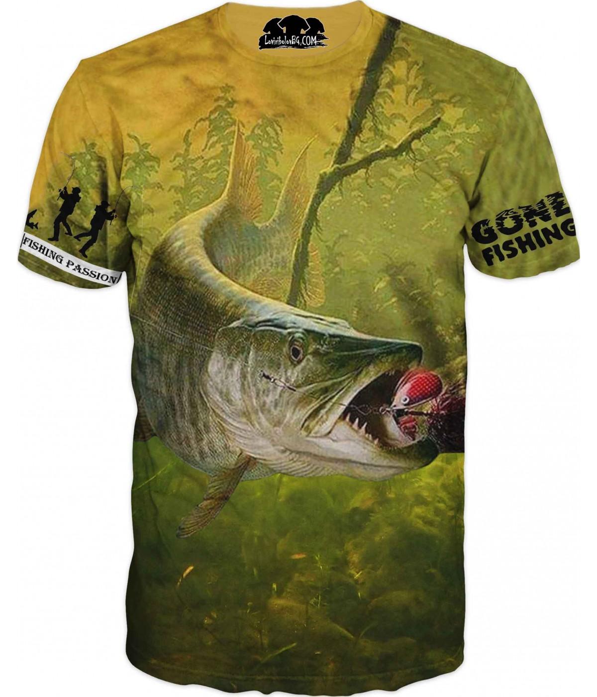 Риболовна тениска за всеки фен рибар и двама рибаря