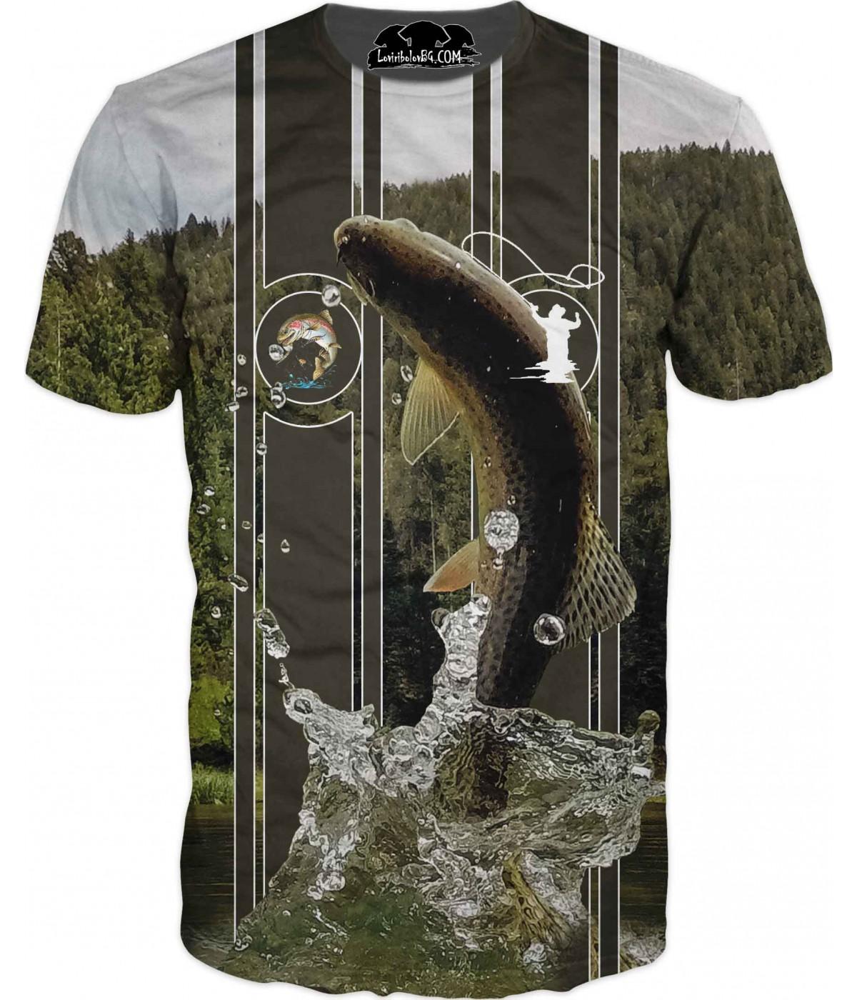 Риболовна тениска - лов на пъстърва