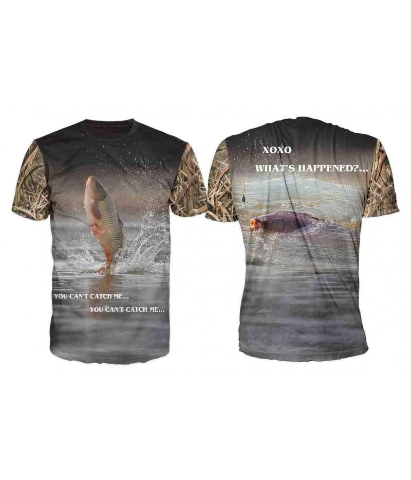 Риболовна тениска с подиграващ се шаран-ENG