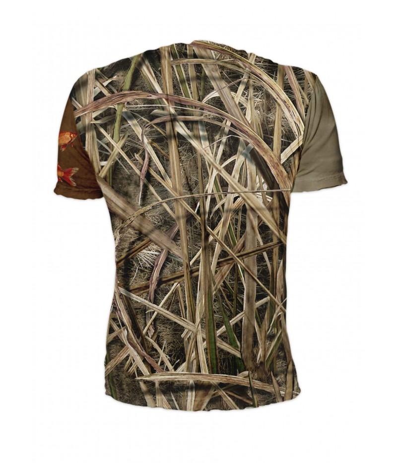 Риболовна тениска - изрисувани риби с въдици