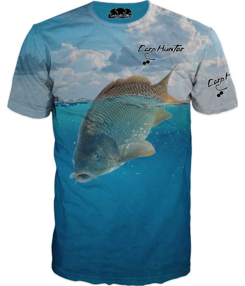Риболовна тениска на Шаран под вода