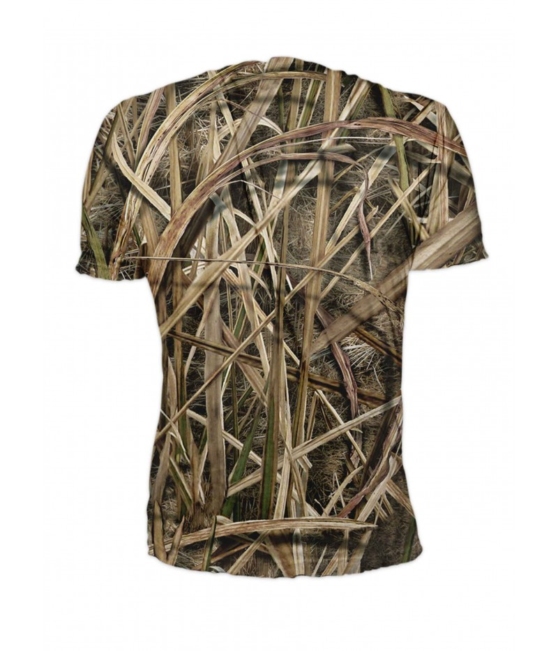 Риболовна тениска сом в тръстиков камуфлаж