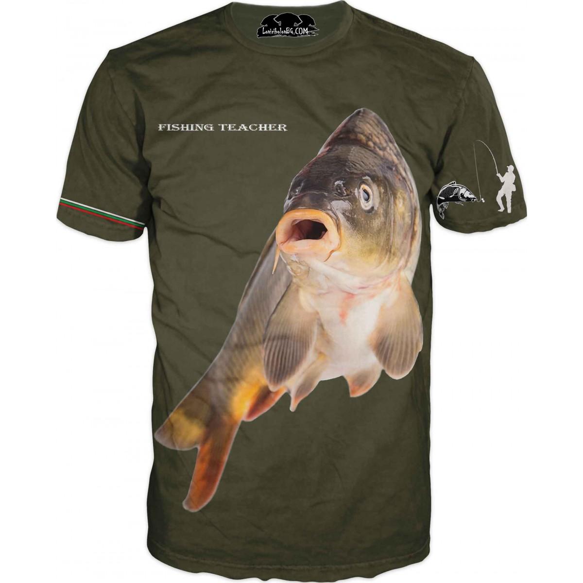 Страхотна риболовна тениска - зелена