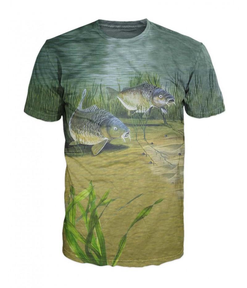 Mъжка тениска с двойка шарани