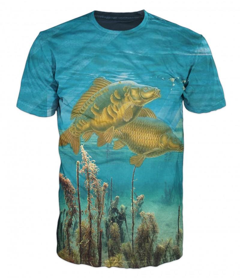 Риболовна тениска с два шарана