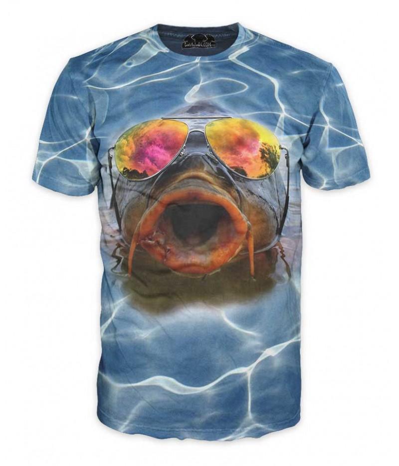 Риболовна тениска - шаран с очила