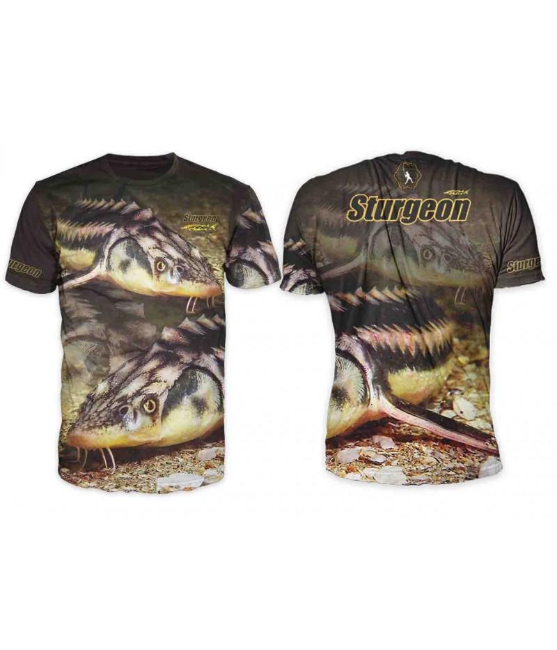 Риболовна тениска с есетра
