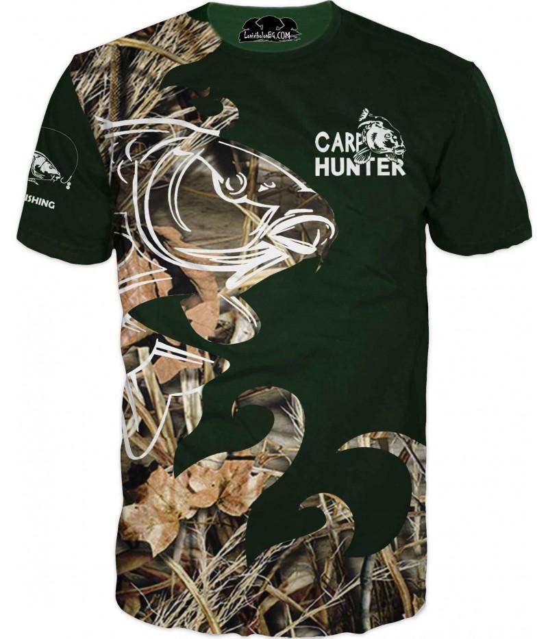 Риболовна тениска - шаран в тръстика