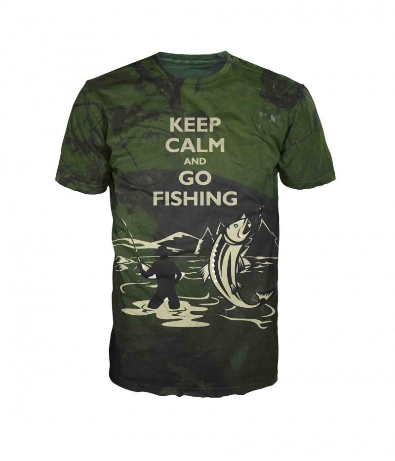 Риболовна тениска с надпис