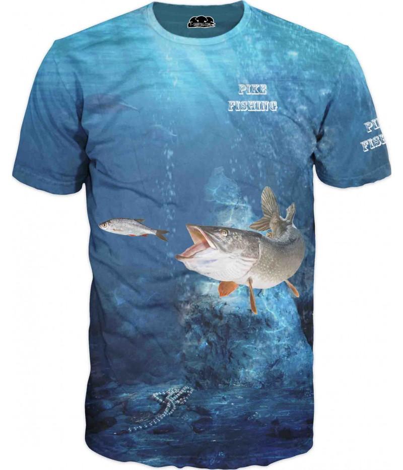 Mъжка риболовна тениска  - Щука
