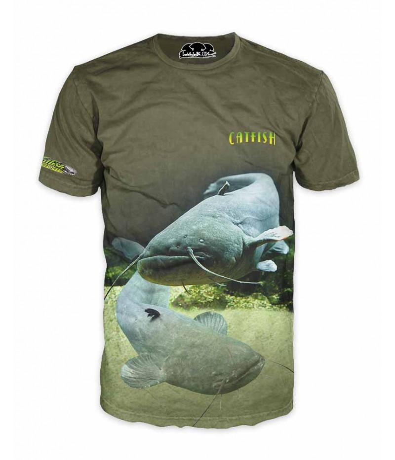 Mъжка риболовна тениска със сом-Catfish