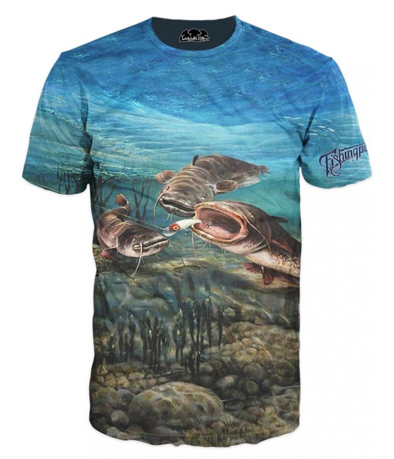 Mъжка риболовна тениска с три сома