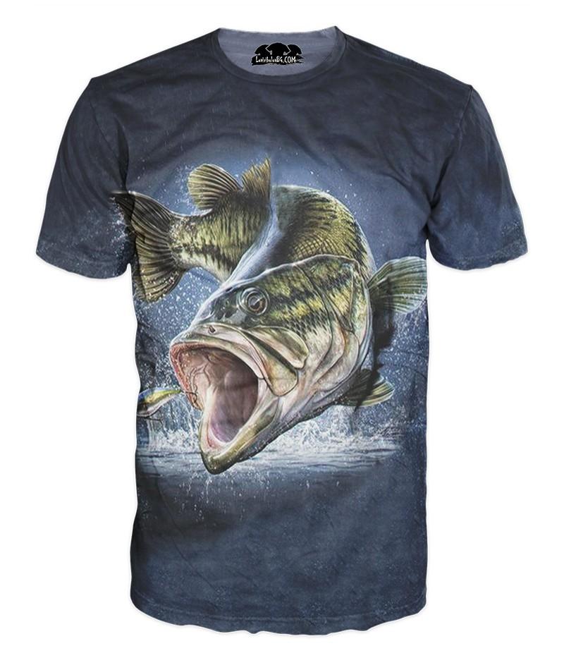 Mъжка риболовна тениска с изображение на риба