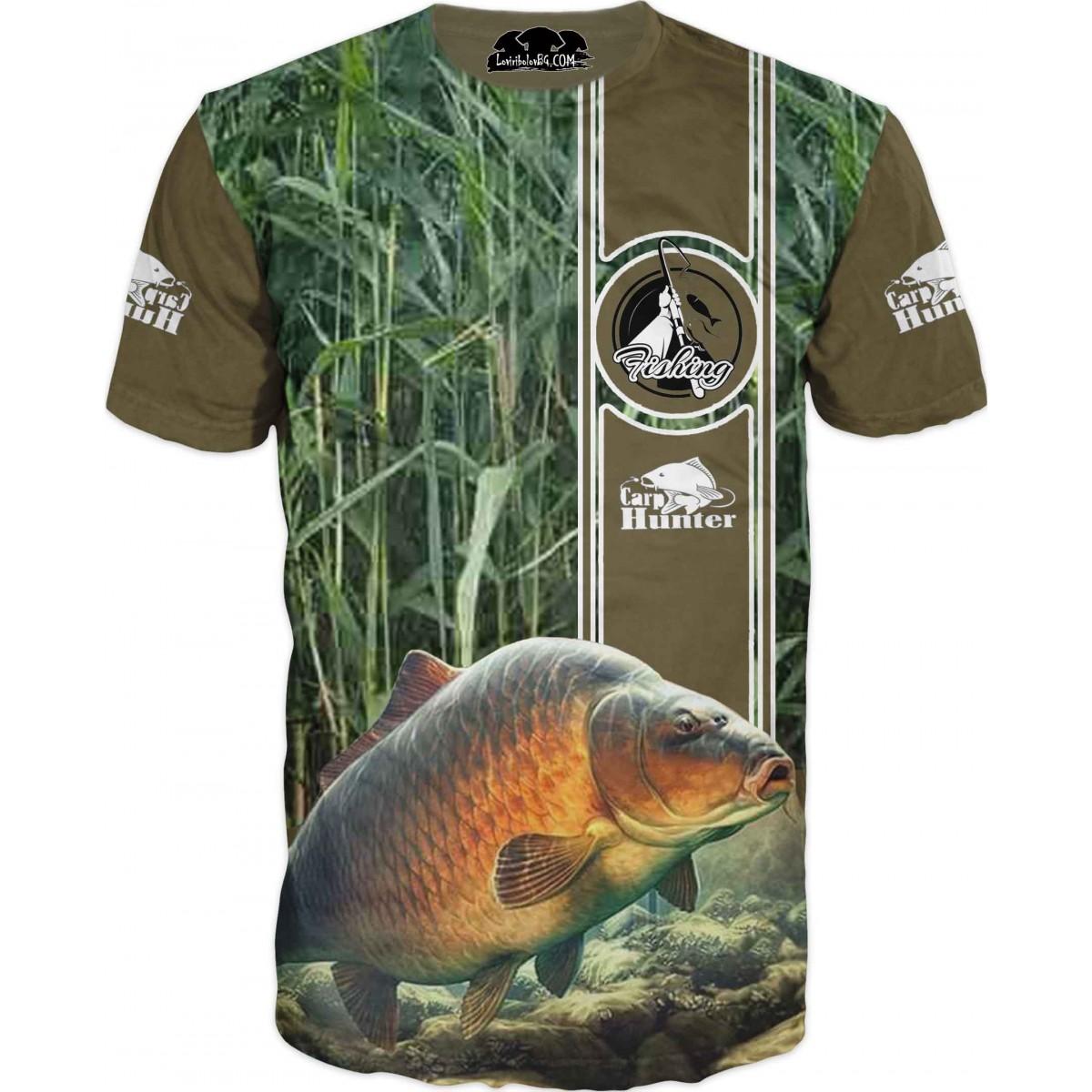 Риболовна тениска - риби на камуфлаж