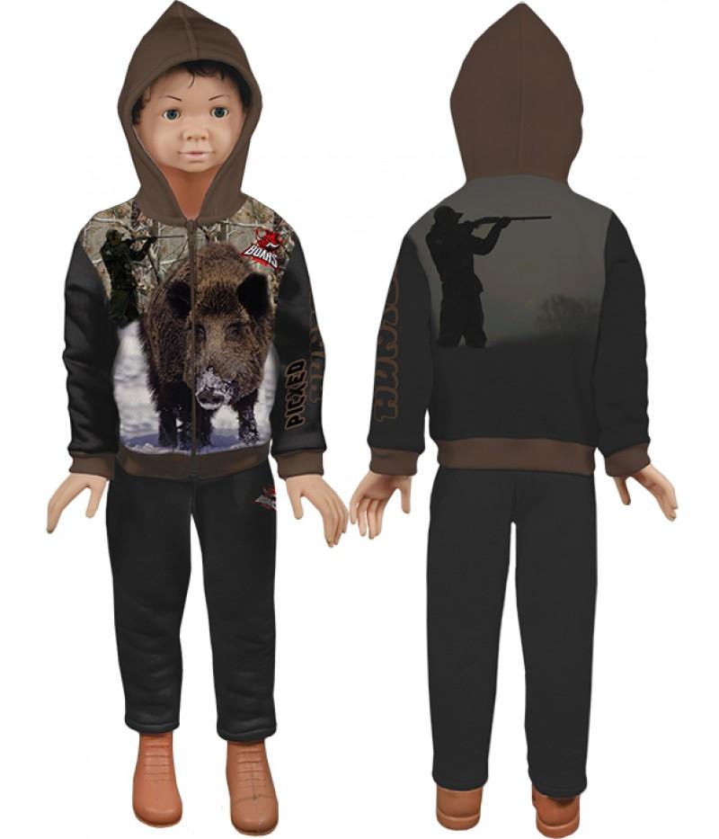 Детски ватиран-памучен екип с ловец и глиган