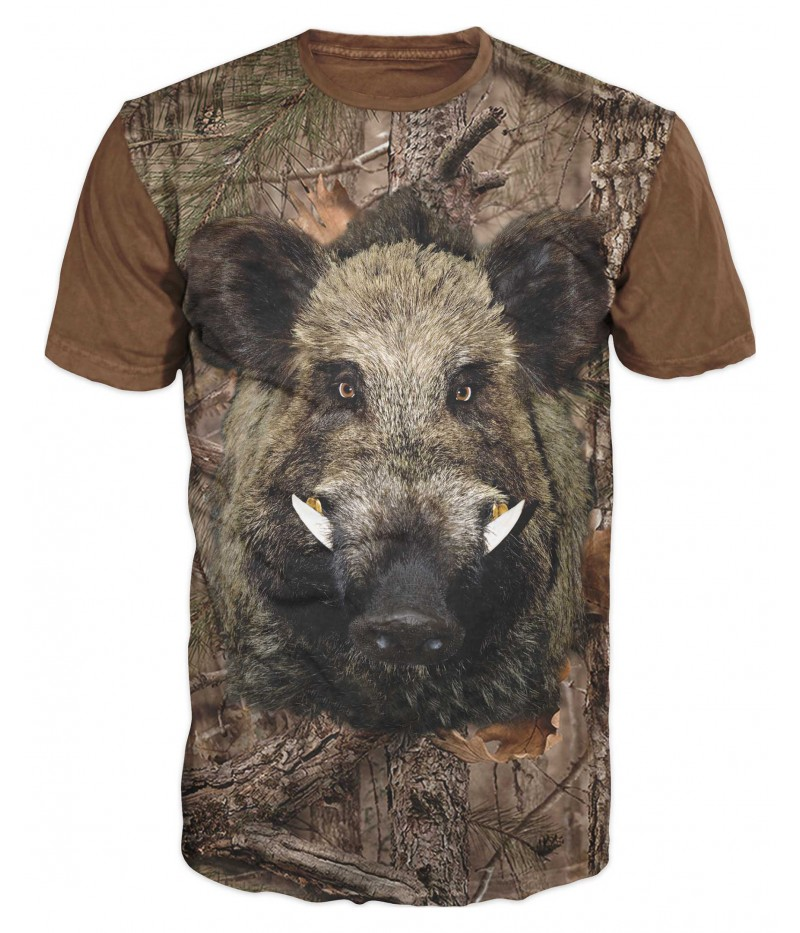 Ловна тениска с глиган с бивни
