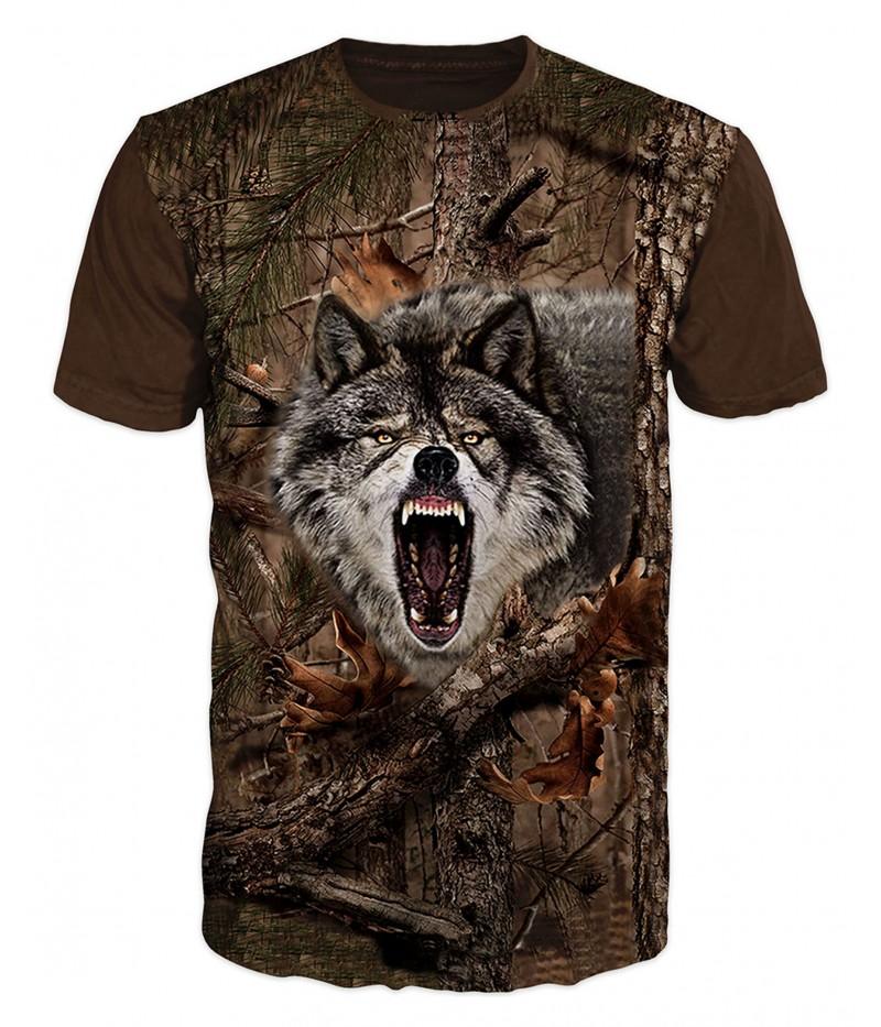 Ловна тениска с вълк