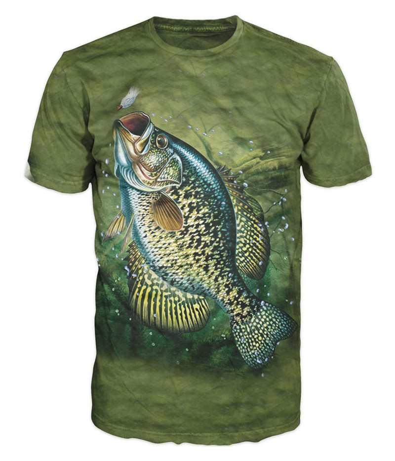 Риболовна тениска с рисуван шаран