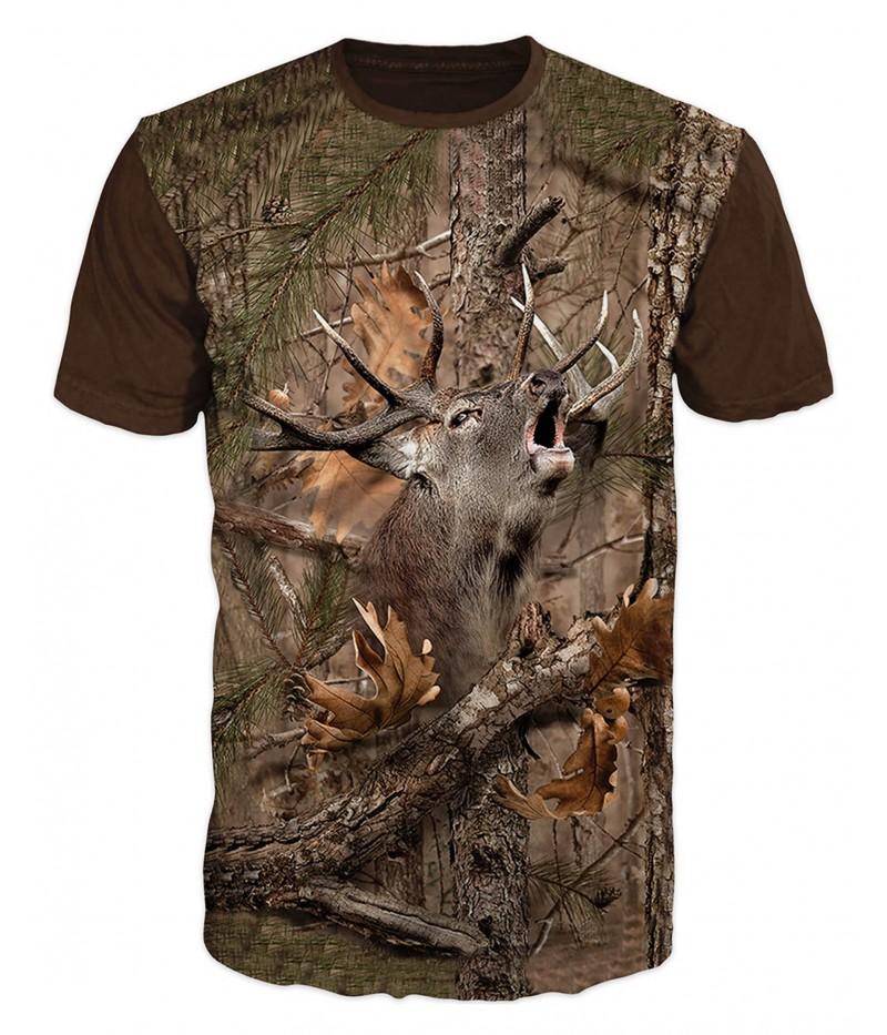 Ловна тениска със зеещ елен
