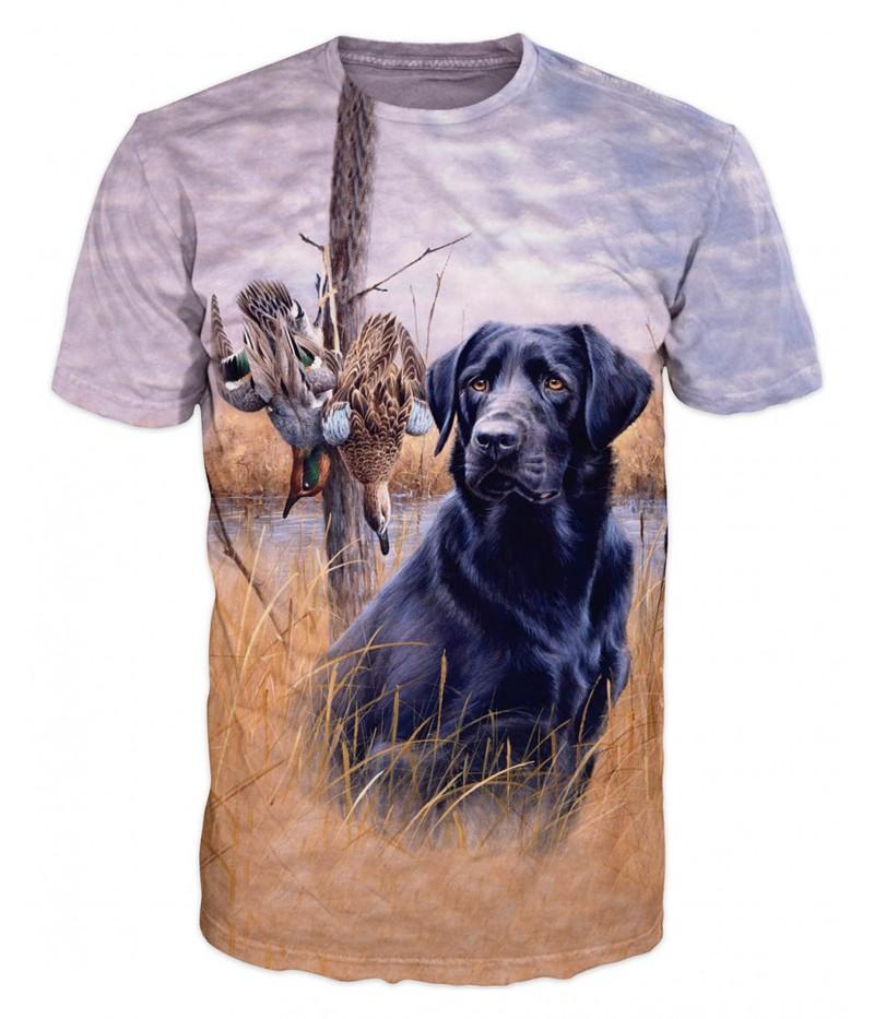 Ловна тениска с ловно куче