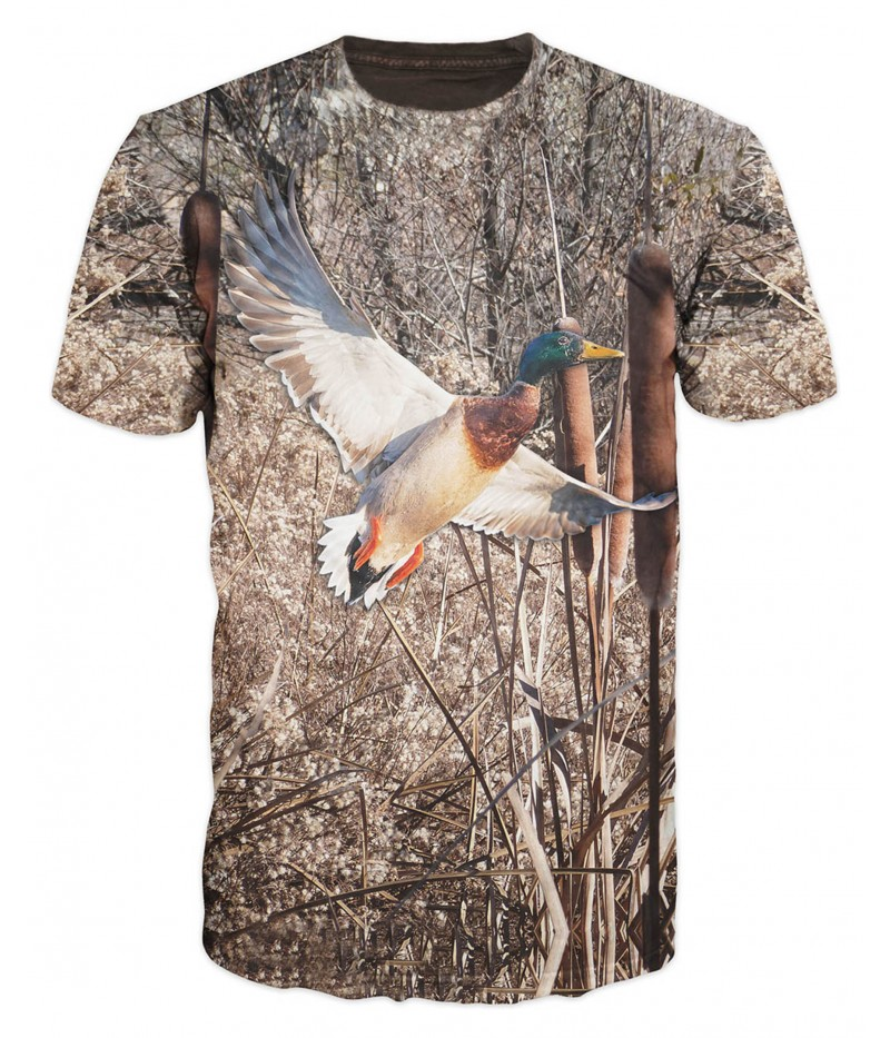 Ловна тениска със зеленоглав фазан