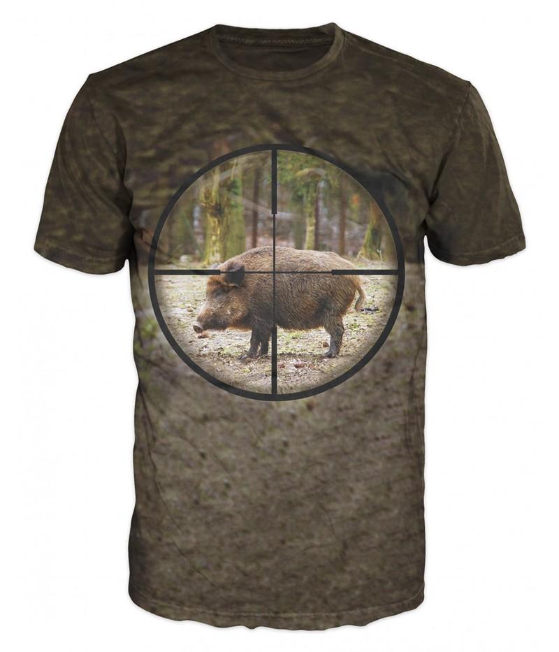 Ловна тениска с глиган на мерник