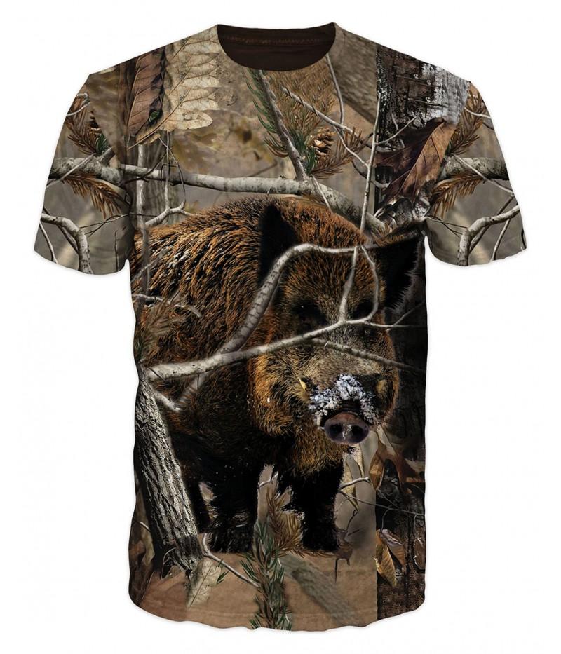 Ловна тениска с глиган със сняг