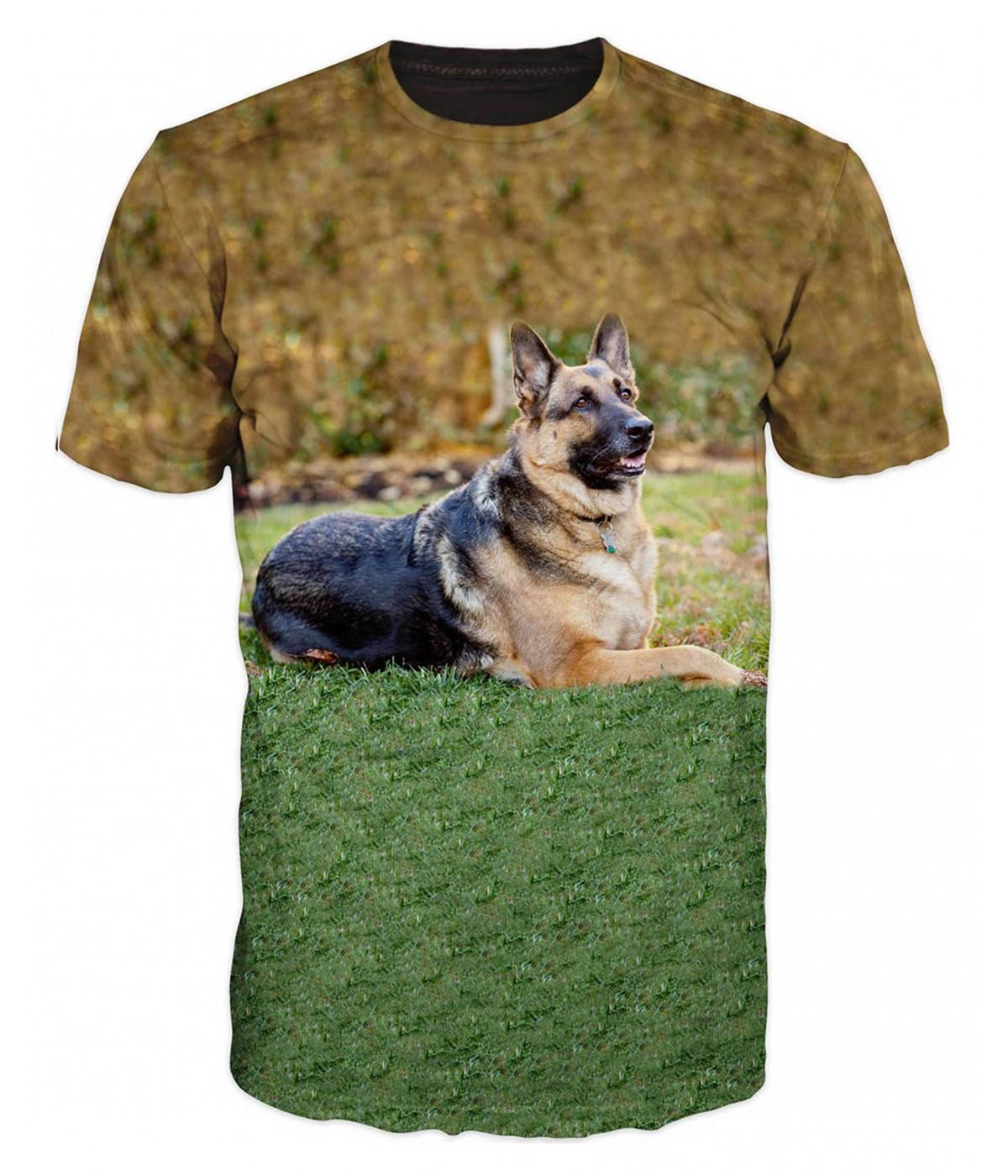 Ловна тениска с Немска овчарка
