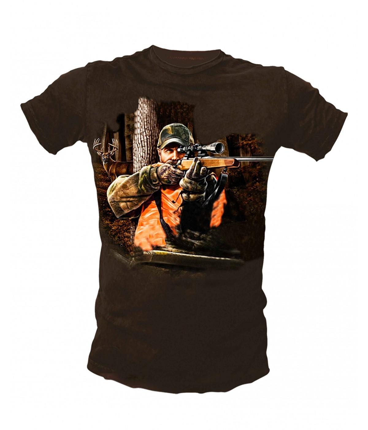 Ловна тениска с ловец