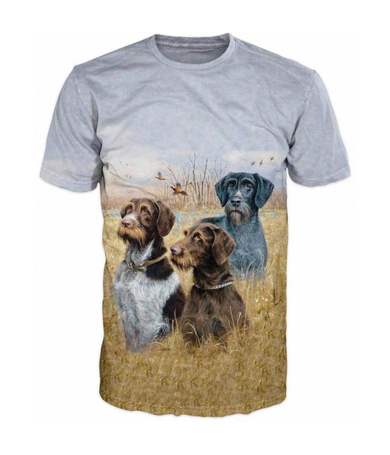 Ловна тениска с ловни кучета