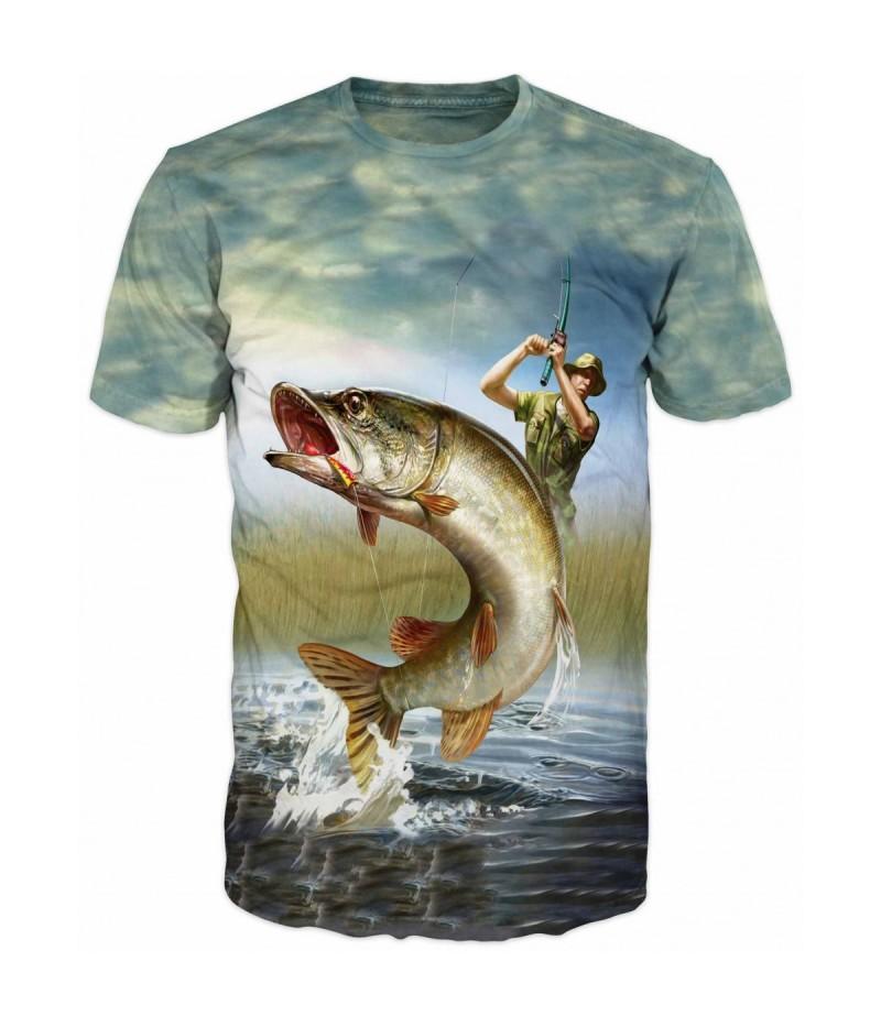 Риболовна тениска с щука