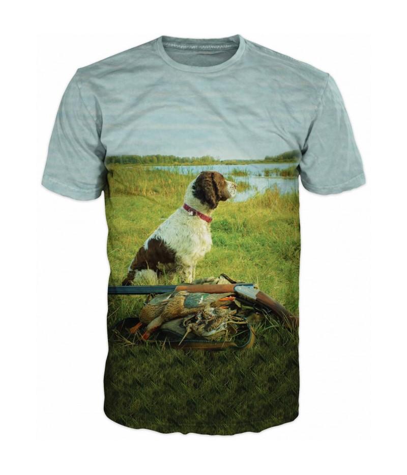 Ловна тениска с Английски сетер