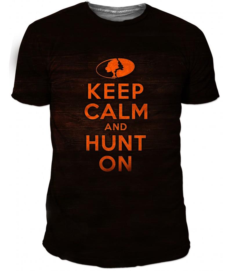 Ловна тениска с надпис