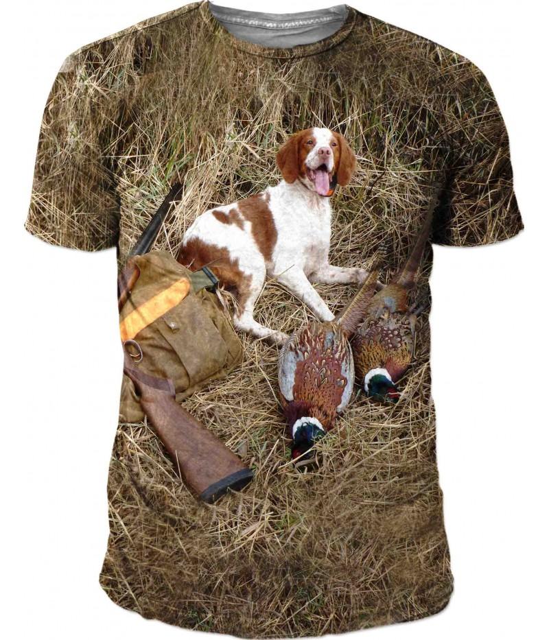 Ловна тениска с камуфлаж