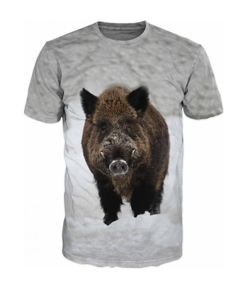 Ловна тениска с глиган в снега