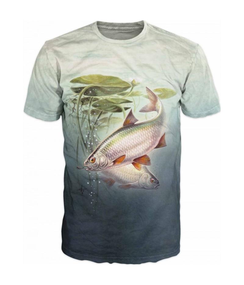 Риболовна тениска с червеноперки