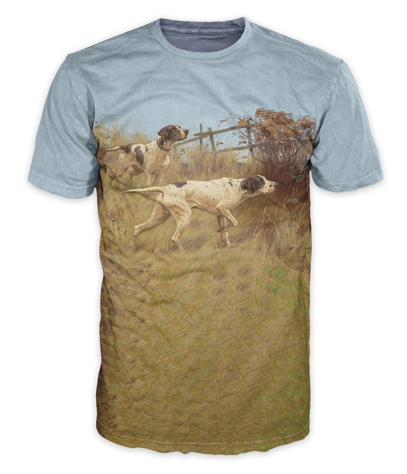 Ловна тениска с кучета
