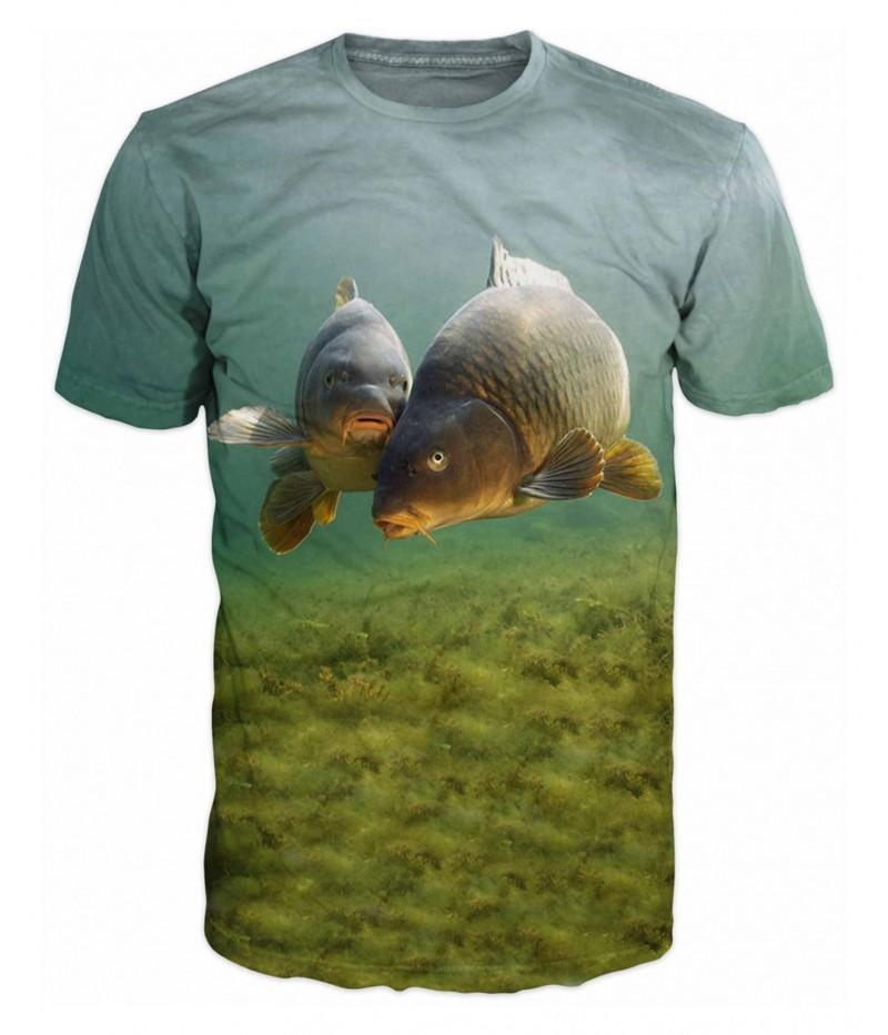 Риболовна тениска с шарани