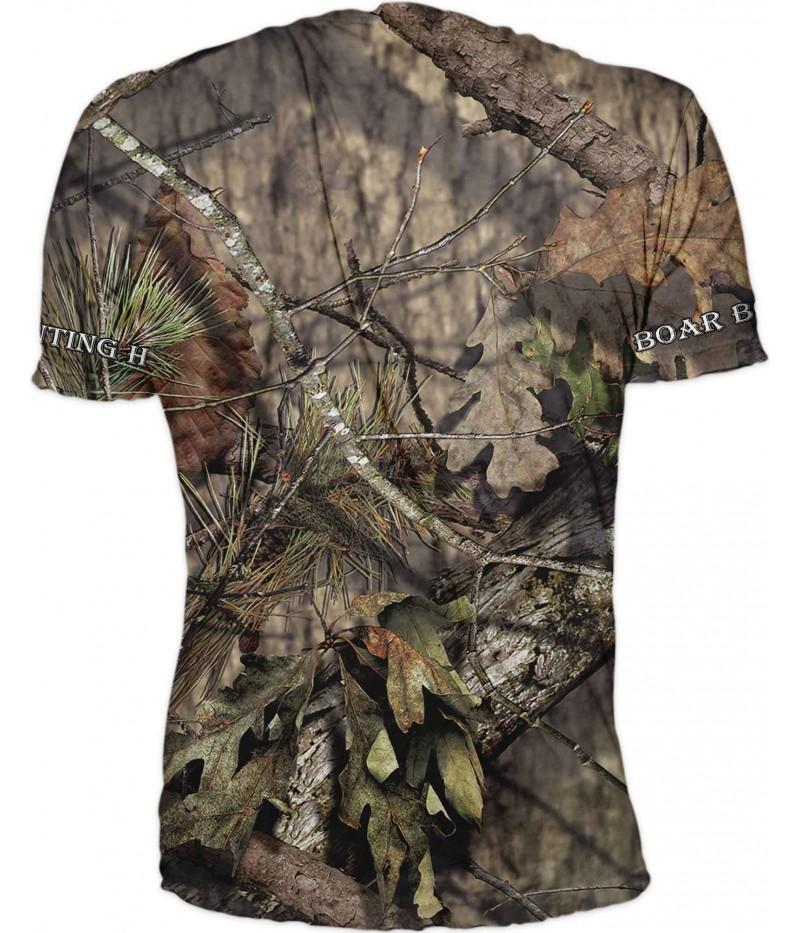 Ловна тениска с диво прасе в камуфлаж