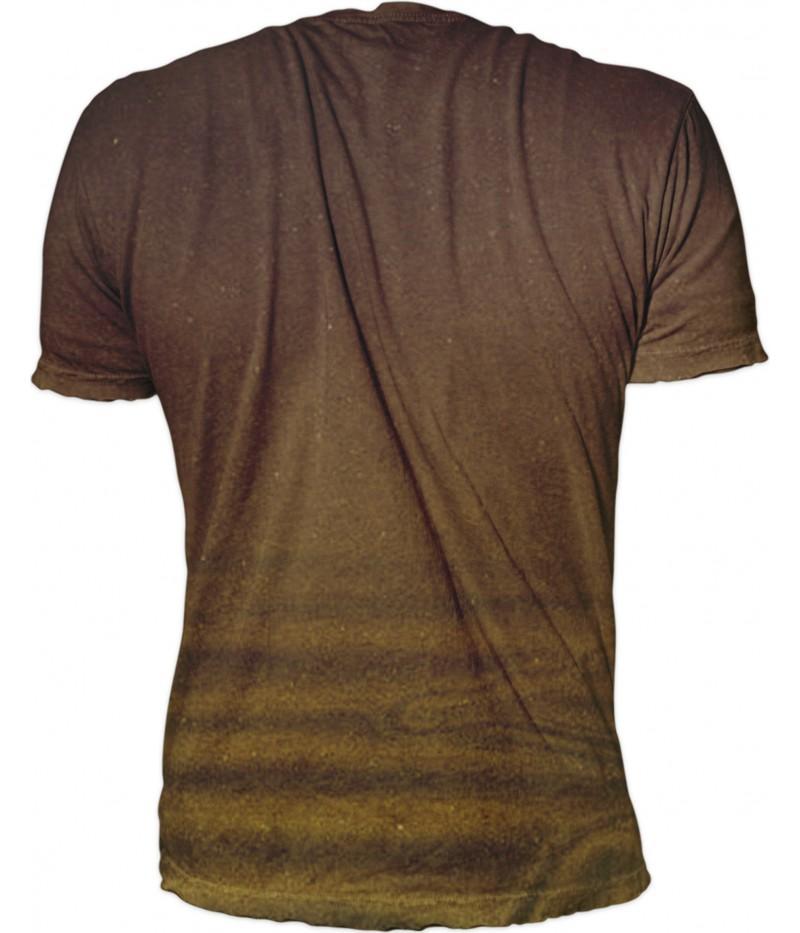 Мъжка тениска със златен шаран