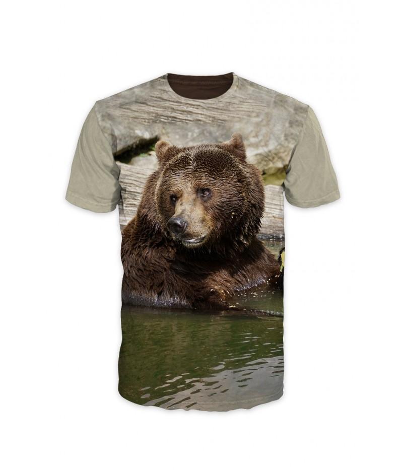 Мъжка тениска  Мечка в езеро