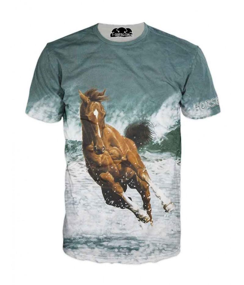 Mъжка тениска с кон